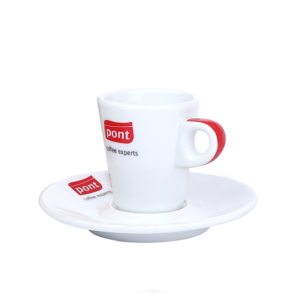 Red handle coffee cup