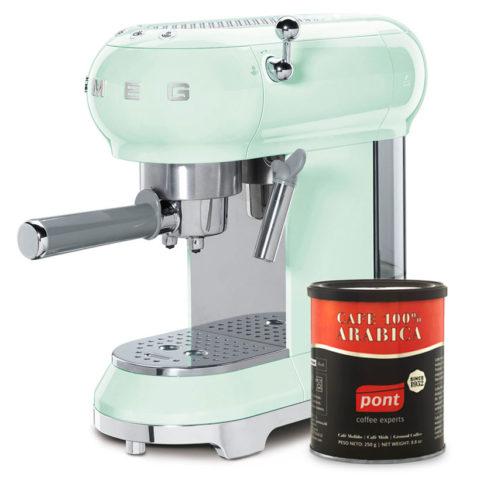 Smeg Green Coffee Maker