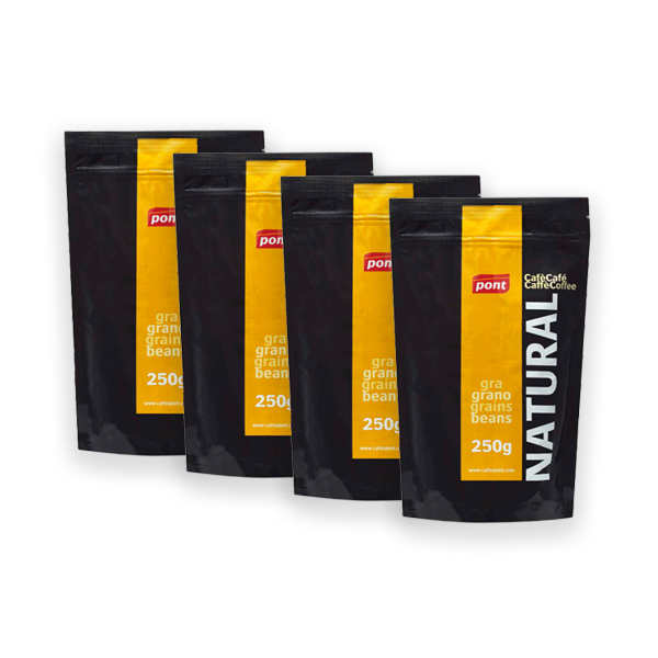 Natural coffee whole bean pack